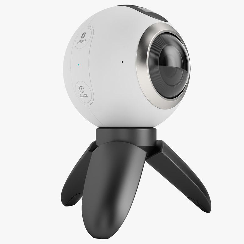 3d model samsung gear 360