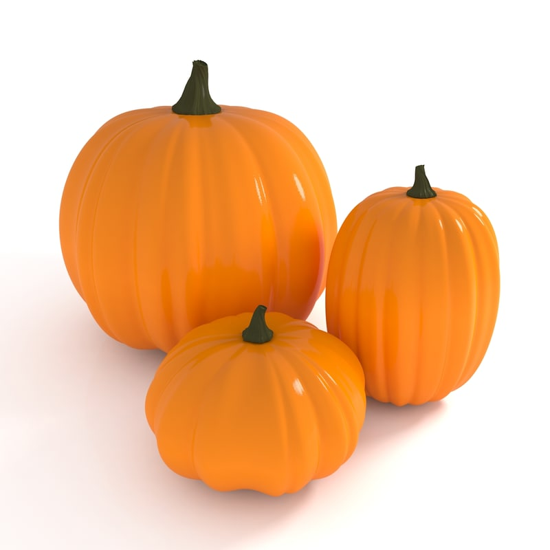 3d model orange pumpkins