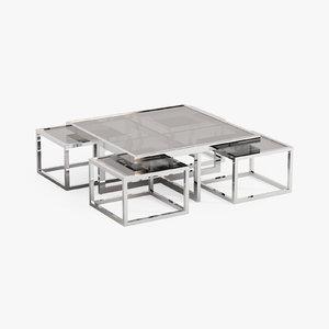 3d eichholtz coffee table monogram model