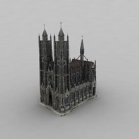 3d 3ds church modelled