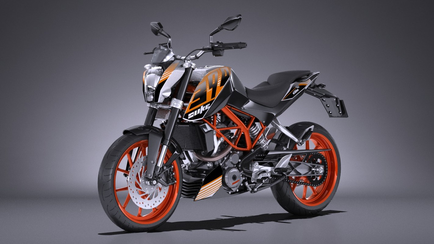 3d ktm duke 390 model. Black Bedroom Furniture Sets. Home Design Ideas