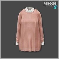3d model sweater pink shirt