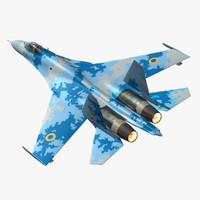 3d sukhoi ukraine model