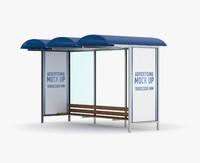 bus stop 3d model