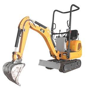 3d model mini excavator