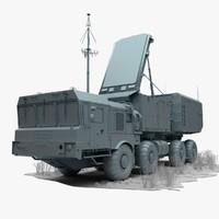 s-400 sa-21 growler 92n6e 3d model