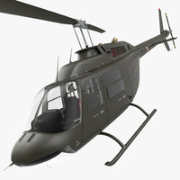3d model bell 206 jetranger italian