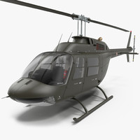 3d bell 206 jetranger italian model