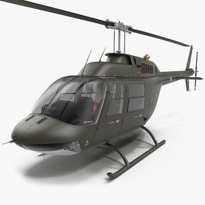 3d bell 206 jetranger italian model