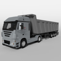 grain trailer 3d obj