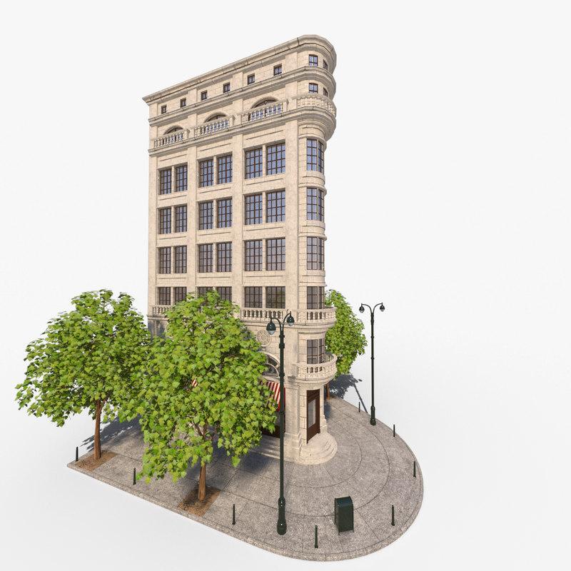 building corner 3d model