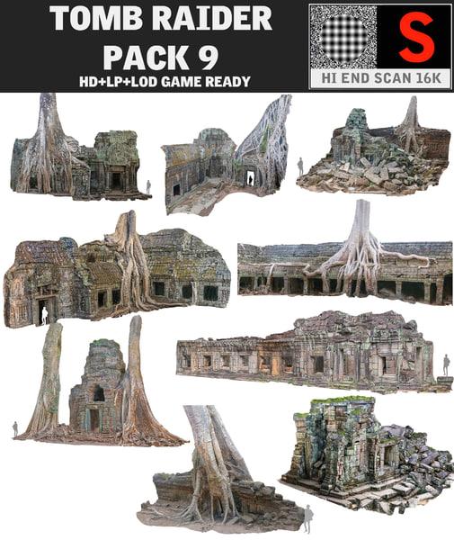 3d ancient temple pack 9 model