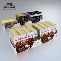 Lindt chocolates bars tray display