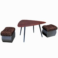 coffee table padded stool 3d model