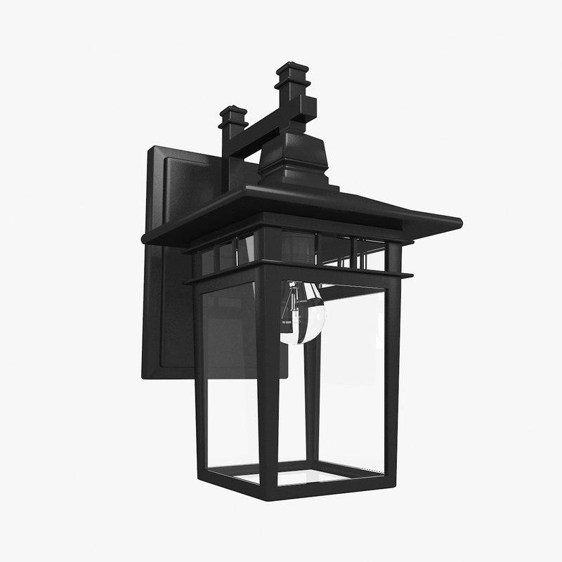 wall lantern obj