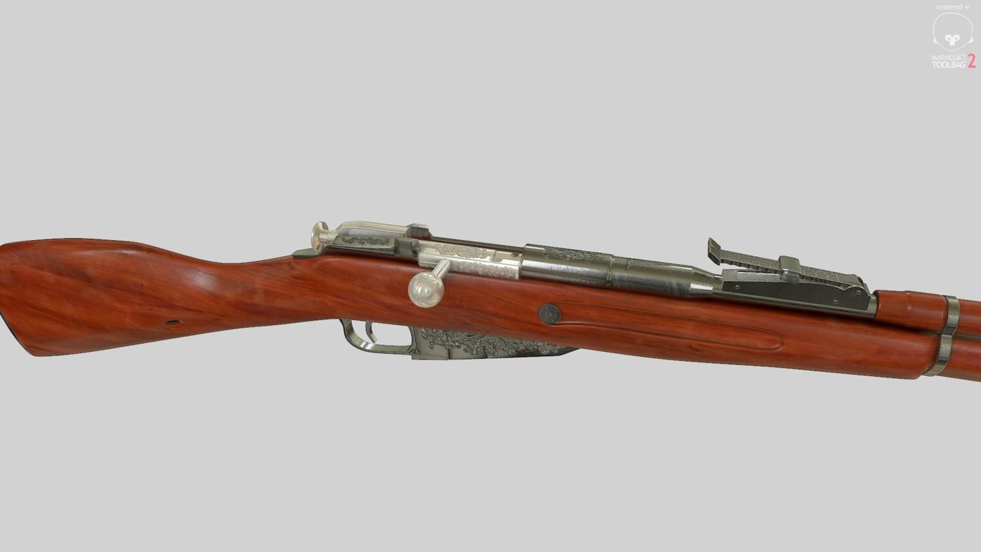mosin nagant rifle 3d max