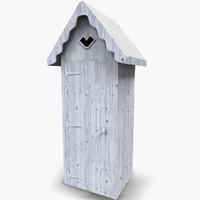 3d model beach hut