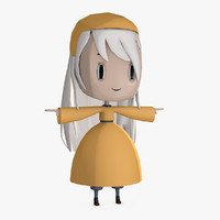 stylized character - 3ds