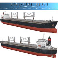 3d mv vinalines queen bulk carrier model