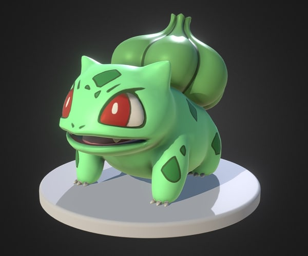 bulbasaur pokemon 3d model