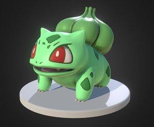 bulbasaur pokemon 3d model