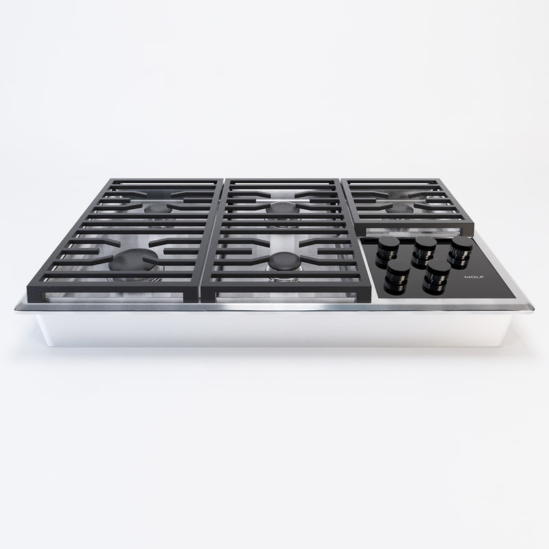 wolf cooktop 3d max