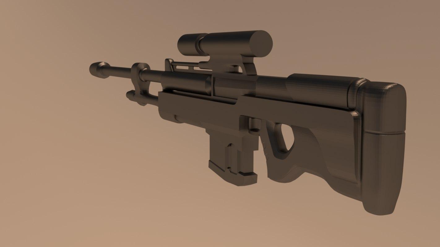 blend bungie sniper rifle