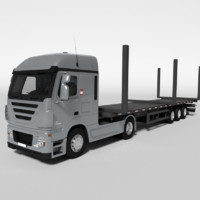 3d logging truck model