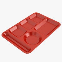 lunch food tray 3ds