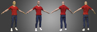 3d strong male character