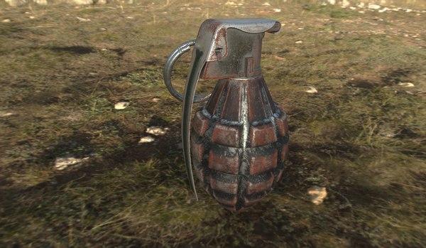 3d mk 2 grenade model