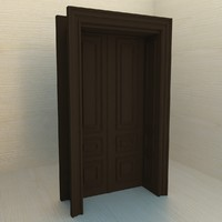 building architecture door 3d model