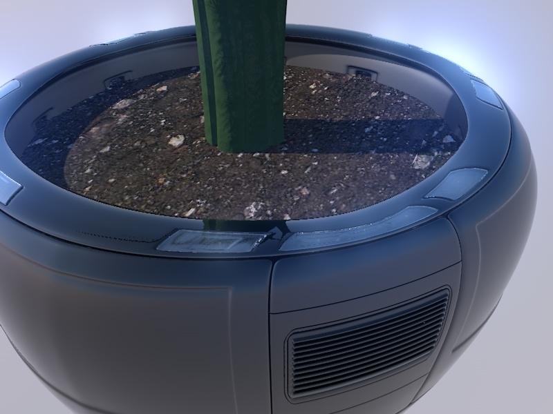 3d floral pot model