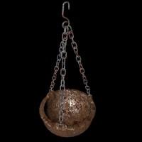 hanged pot chains 3d c4d