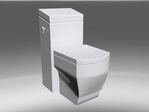 square bathroom toilet 3d model