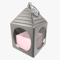 mood light candle lamp 3d model