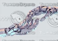 3d robotic hand scene