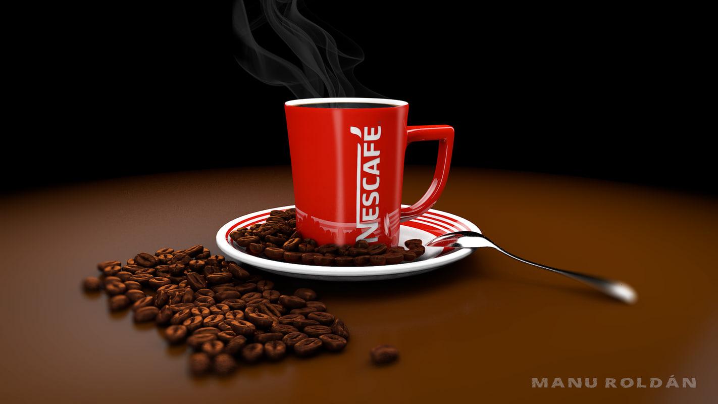 3d nescaf coffee model