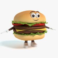 3ds hamburger character