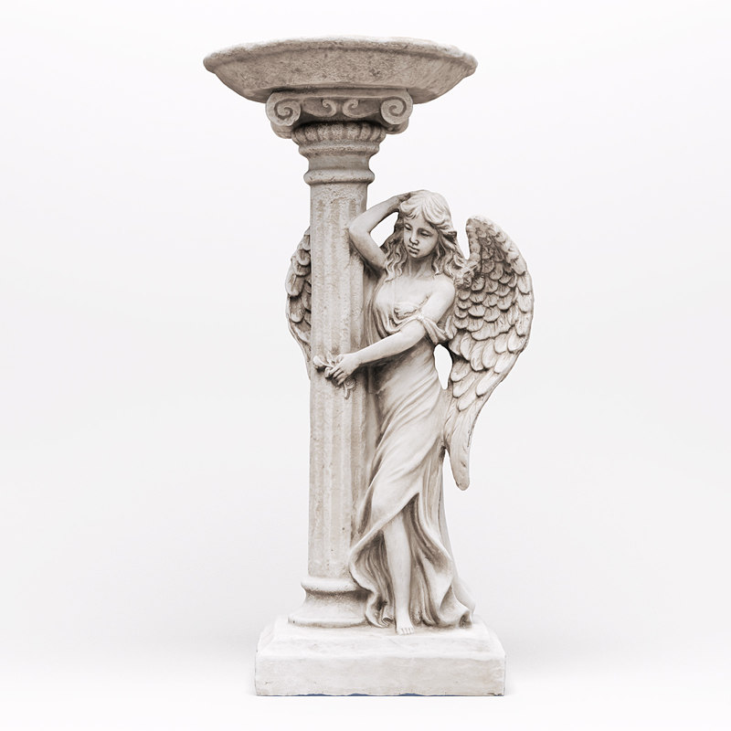 realistic angel flower pot 3d model