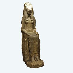 3d statue sekhmet model