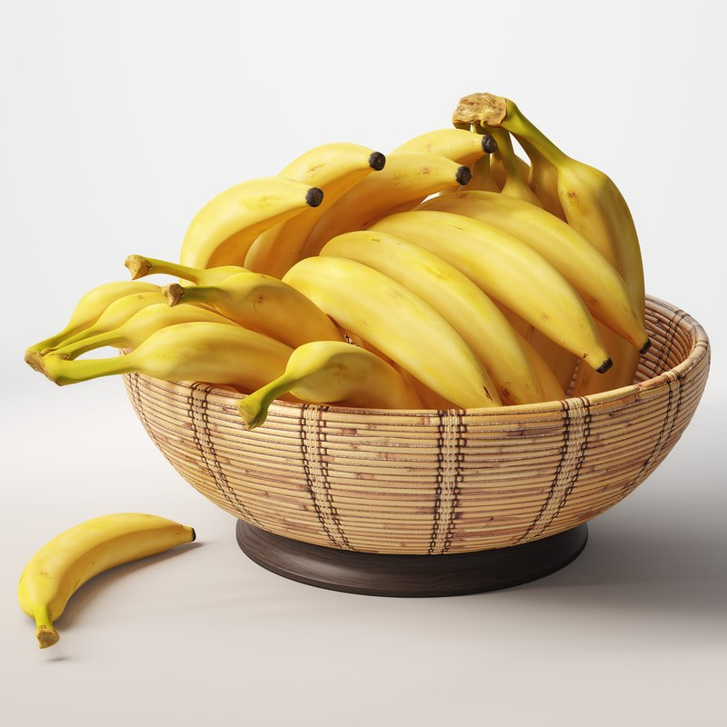 banana basket 3d max
