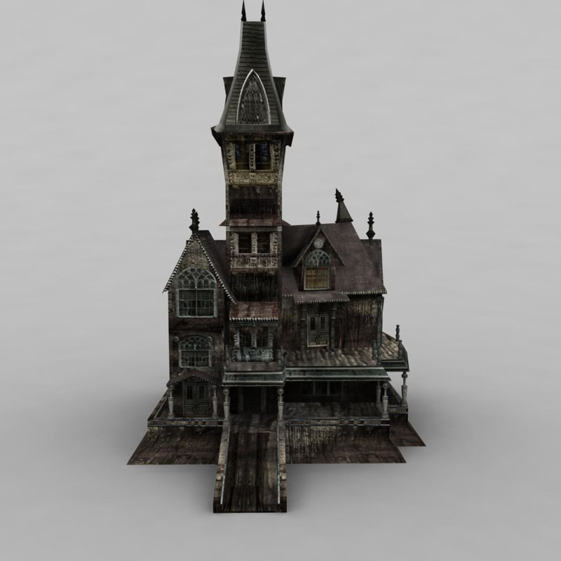 house haunted 3d max