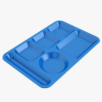 3d lunch food tray