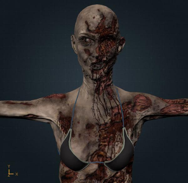 3d model hq woman
