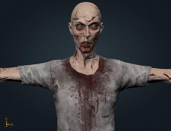 zombie man z 3d fbx