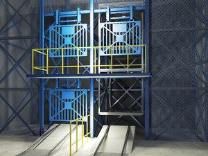 underground elevator 3d max