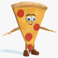 pizza character 3ds