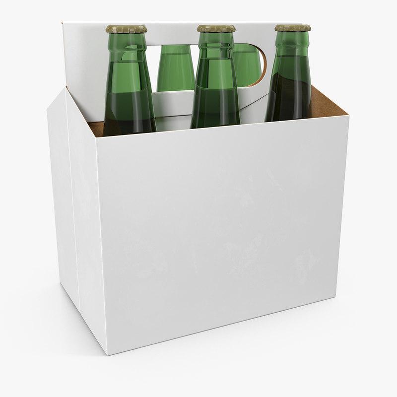 3d model 6 pack bottle holder