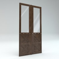 wood door 3d x